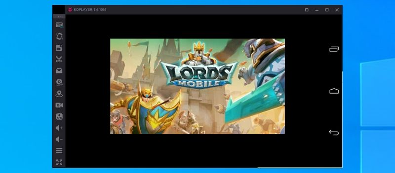 Lords Mobile on PC using KOplayer